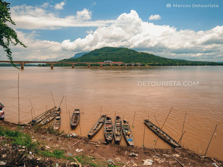 Mekong River in Pakse, Champasak, Laos