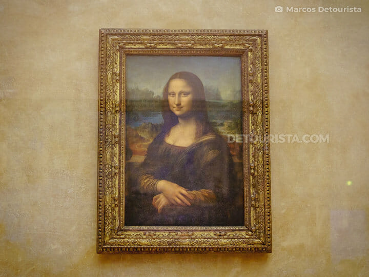 Mona Lisa at the Louvre Museum, in Paris, France