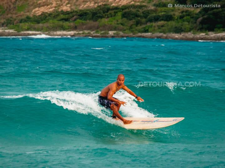 Surfing in Pagudpud, Ilocos Norte, Philippines