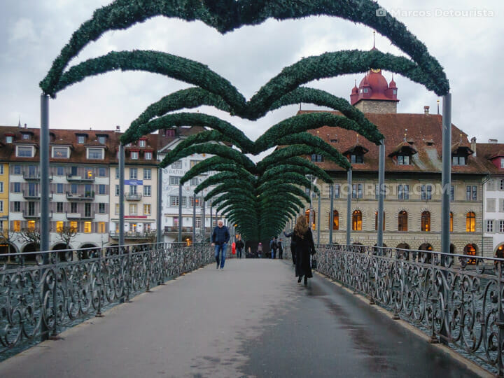 Rathaus-Steg (bridge), in Lucerne, Switzerland