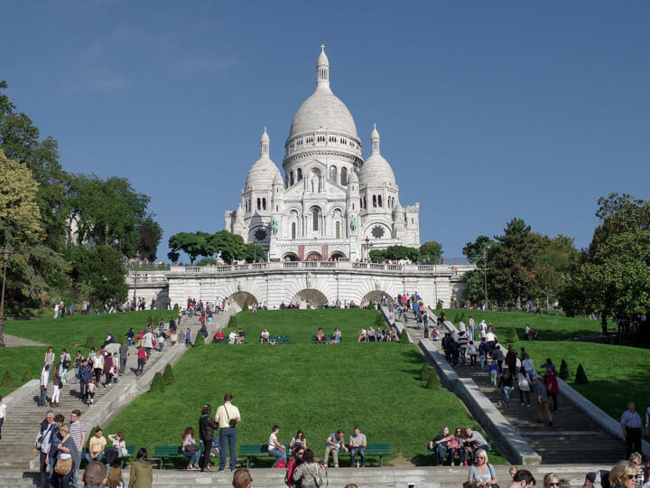 Sacre Coeur Basilica, in Montmartre, Paris, France