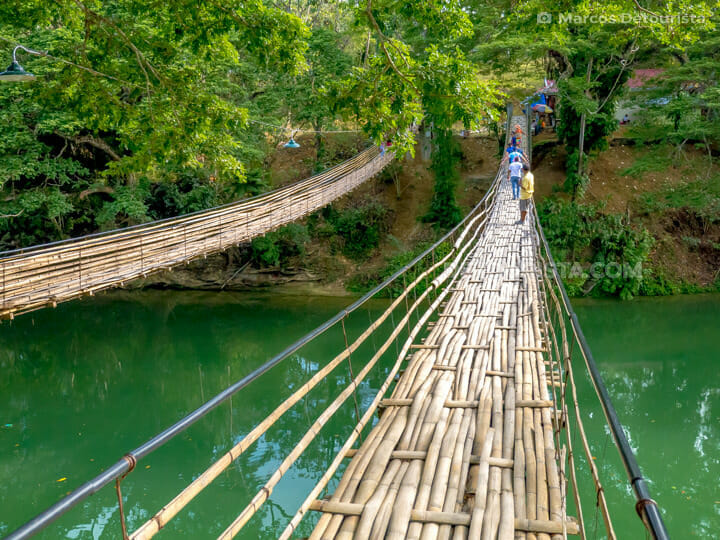 Sipatan Twin Hanging Bridge in Sevilla, Bohol, Philippines