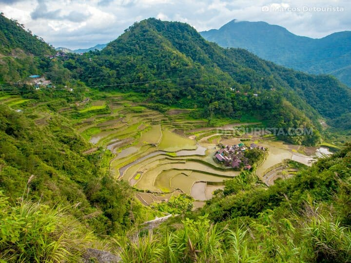 Trail to Bangaan Rice Terraces, in Banaue, Ifugao, Philippines