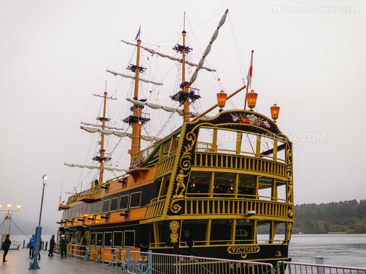 Hakone Sightseeing Cruise pirate ship, in Lake Ashinoko, Hakone,