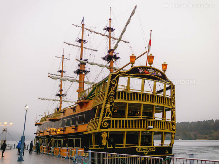 Hakone Sightseeing Cruise pirate ship, in Lake Ashinoko, Hakone,