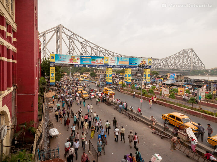 Howrah Railway Station in Kolkata, India