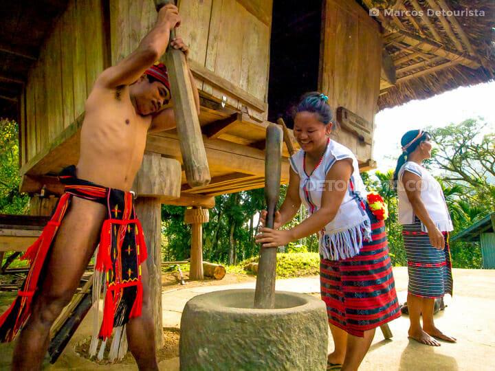 Igorot farmers at Kiangan Rice Terraces & Open Air Museum, in Ki