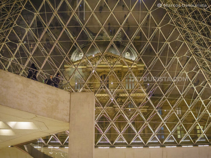 Louvre Museum architecture, in Paris, France