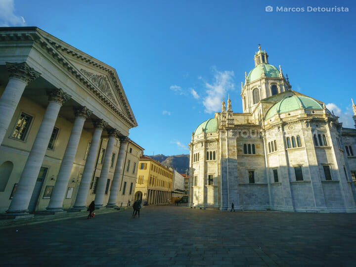 Teatro Sociale & Como Cathedral in Como, Lombardy, Italy