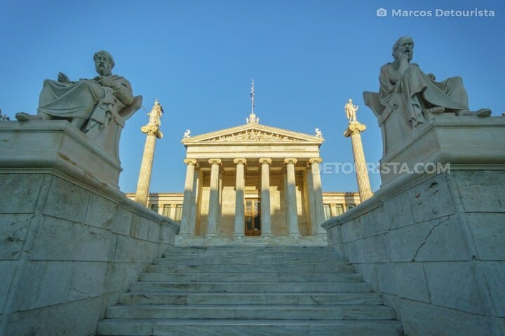 Academy of Athens, part of Athens Trilogy, in Athens, Greece