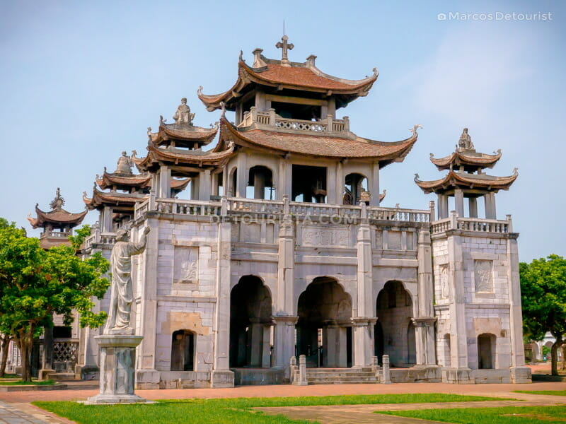 Facade of Phat Diem Cathedral, located on the outskirts of Ninh