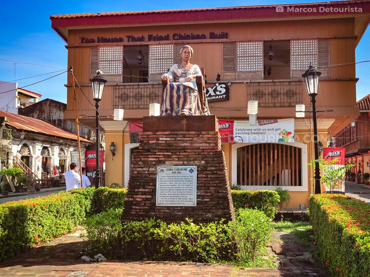 Leona Florentino Statue in Vigan, Ilocos Sur, Philippines