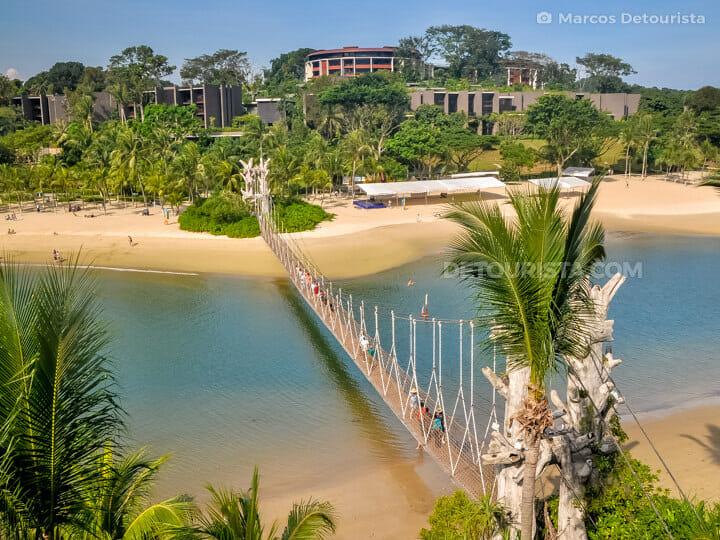 Overlooking Palawan Beach in Sentosa, Singapore