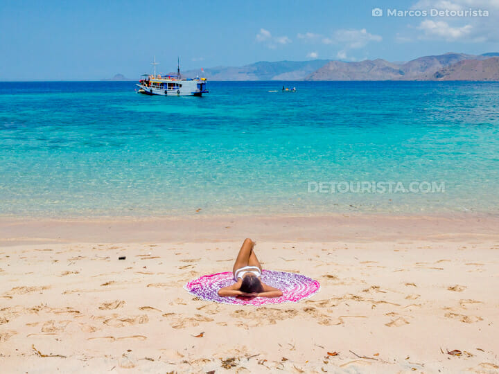 Pink Beach, in Komodo Island, Komodo National Park, East Nusa Tenggara, Indonesia
