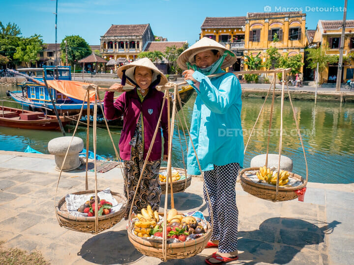 Fruit Sellers at Hoi An Riverside