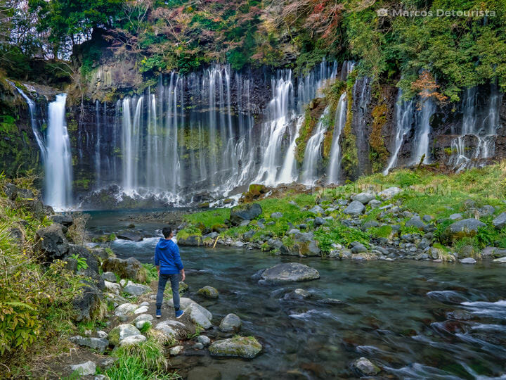 Shiraito Waterfall near Mount Fuji, Japan