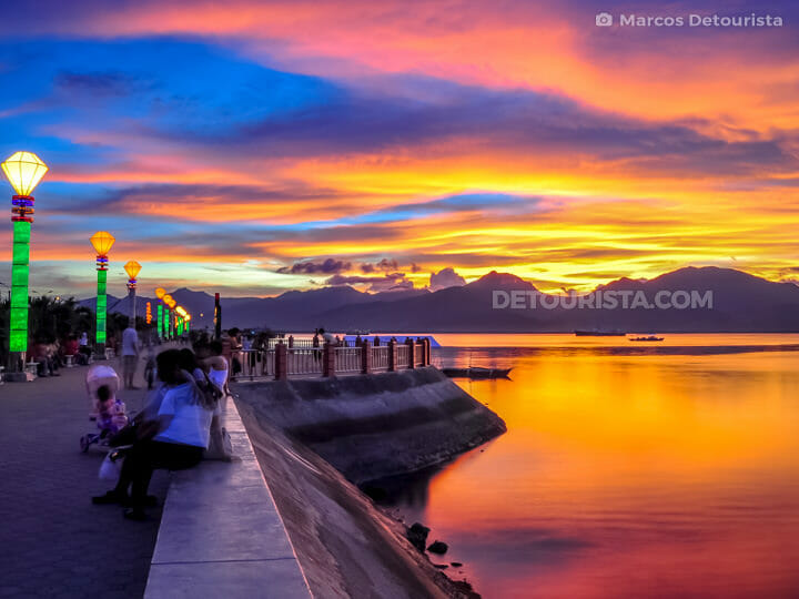 The Baywalk in Puerto Princesa City, Palawan, Philippines