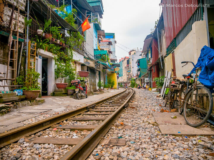 Train Street in Old Quarter, Hanoi, Vietnam