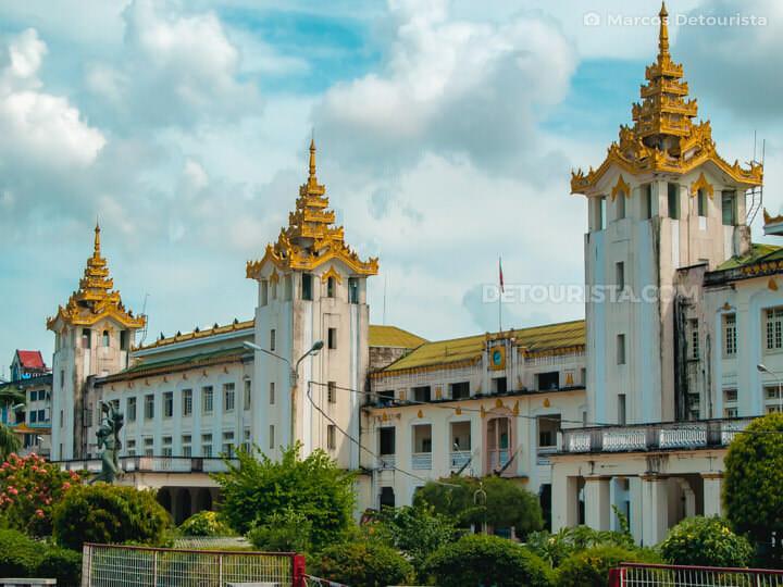 Yangon Central Railway Station in Yangon, Myanmar