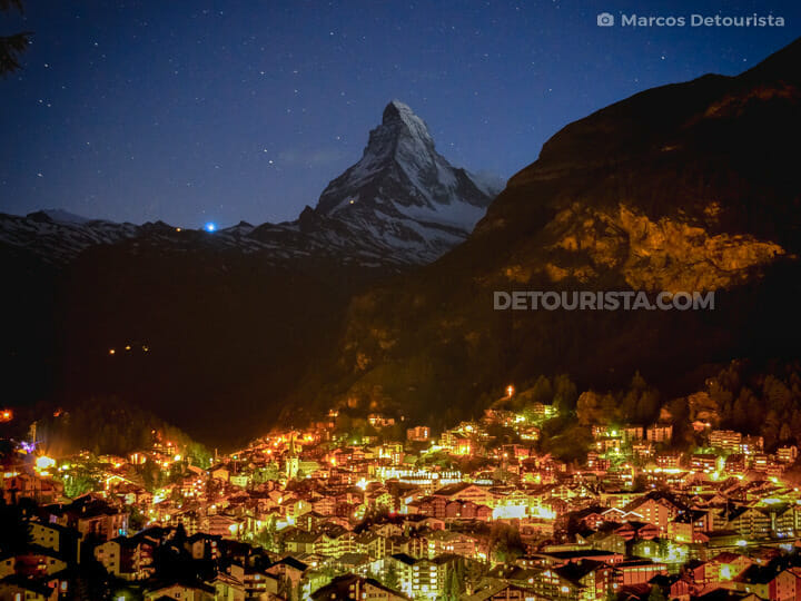 Zermatt Matterhorn Viewpoint, in Zermatt, Switzerland