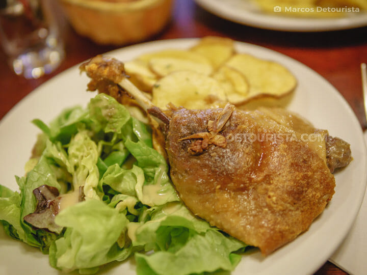 Confit Conard (duck) at Bistrot Victoires, in Paris, France