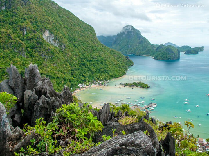 Overlooking El Nido from Taraw Peak