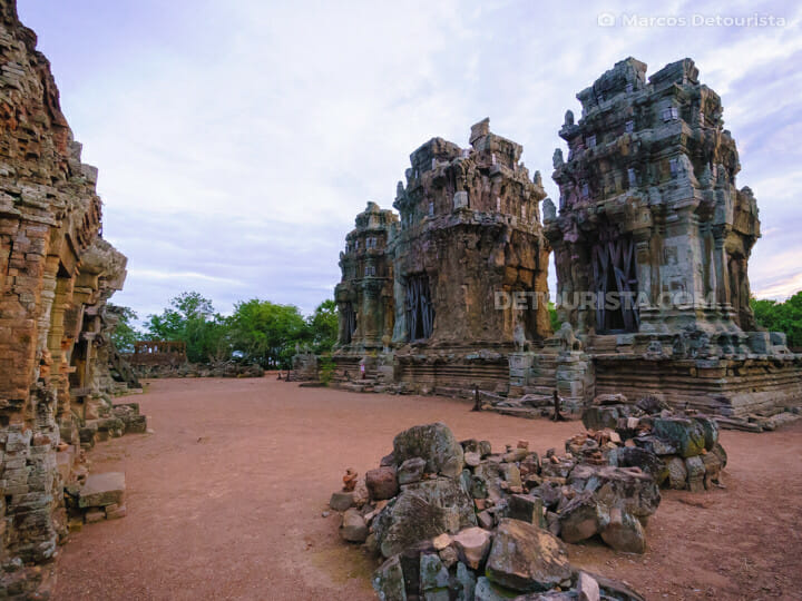 Phnom Krom Temple near Chong Khneas floating village, in Tonle Sap, Cambodia