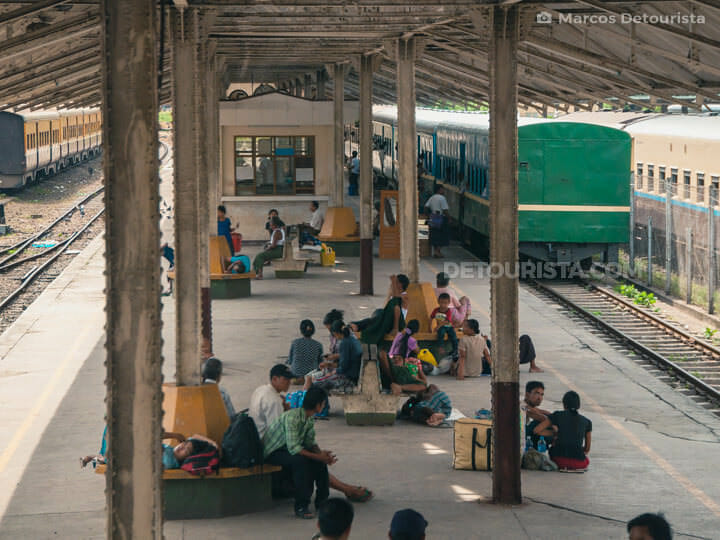 Yangon Central Railway Station in Yangon, Myanmar