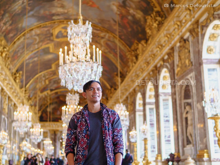 Marcos at the Palace of Versailles near Paris, France