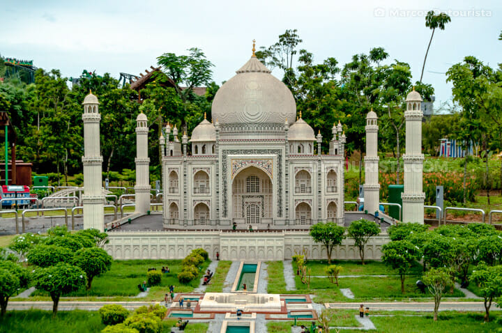 Lego replica of India's Taj Mahal at Miniland, in Legoland, Johor Bahru, Malaysia