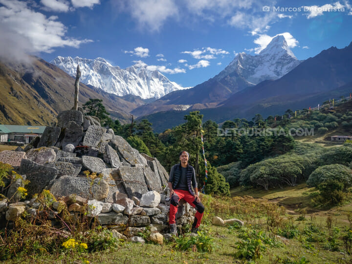 View of Ama Dablam from Tengboche, Everest Base Camp Trek, Nepal