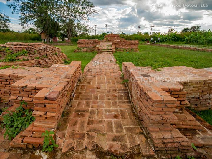 Wat Ku Maisong temple ruins at Wiang Kum Kang in Chiang Mai, Tha