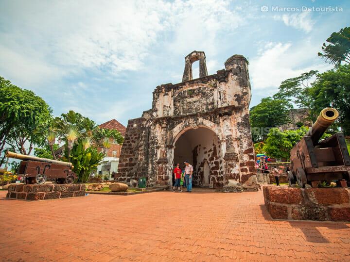 A Famosa (Fortress) in Melaka, Malaysia