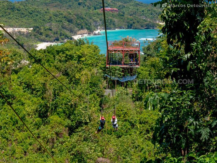 Zipline ride in Mount Luho, Boracay Island, Malay, Aklan, Philippines