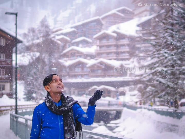 Marcos at Vispa Riverside, in Zermatt, Switerland