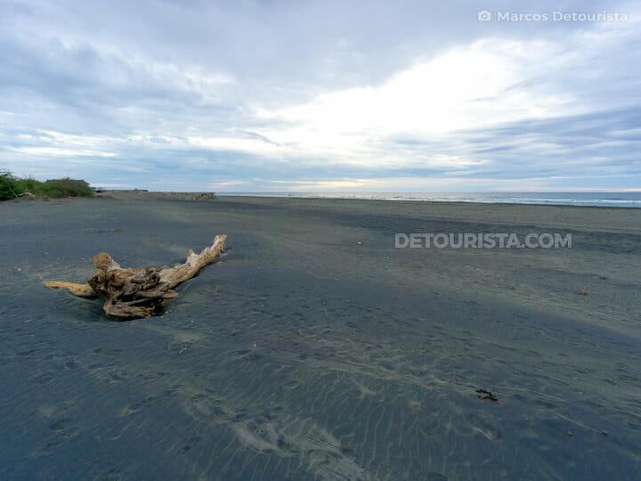 Mindoro Black Sand Beach, in Vigan, Ilocos Sur, Philippines
