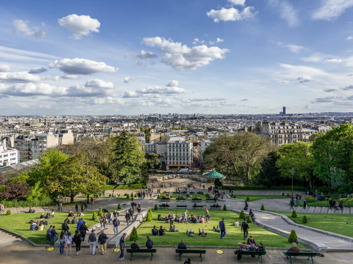 Montmartre view overlooking Paris
