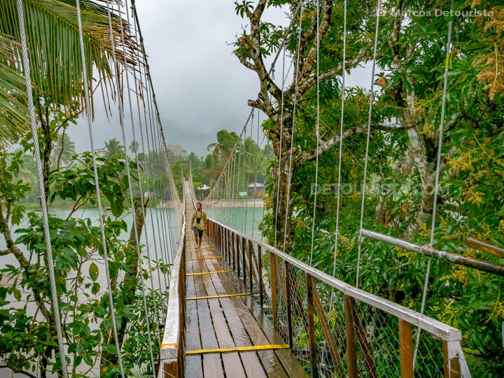 Hanging bridge, in Baler, Aurora, Philippines