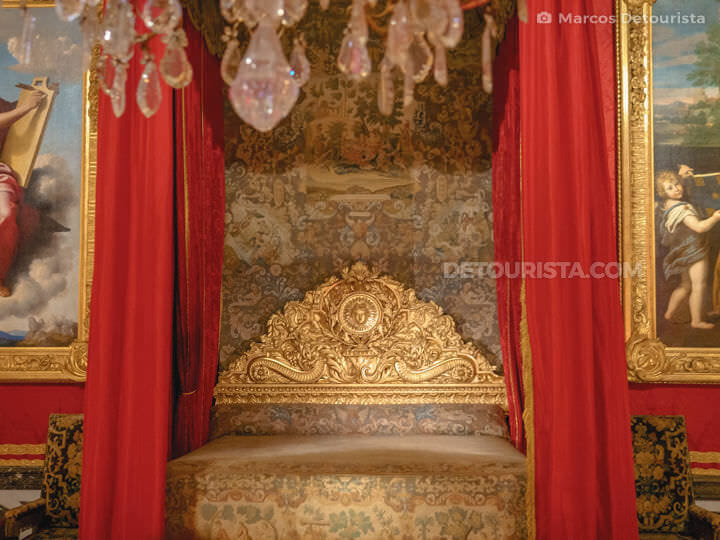 Bed chamber at the Palace of Versailles near Paris, France