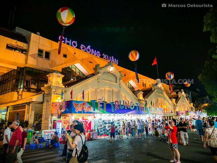 Dong Xuan Market, in Old Quarter, Hanoi, Vietnam