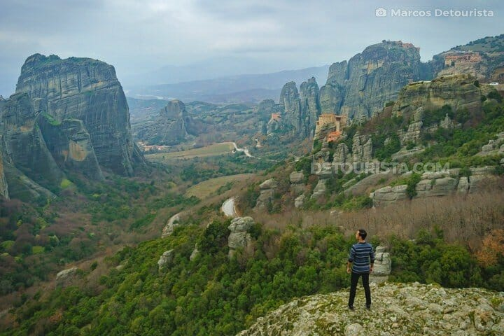 Meteora rock formations & monasteries