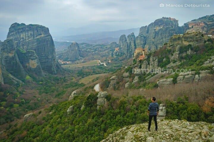 Meteora rock formations & monasteries in Meteora, Greece
