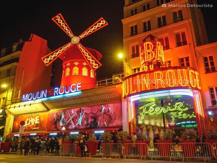 Moulin Rouge theatre, in Paris