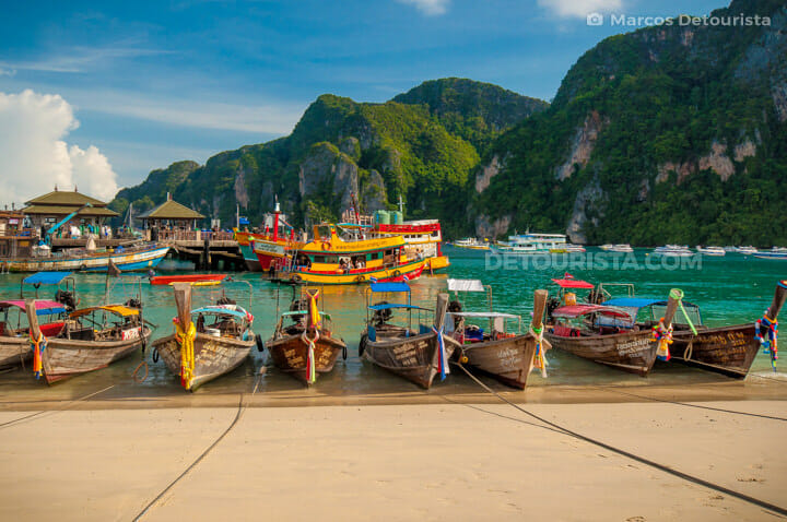 Phi Phi long tail boats