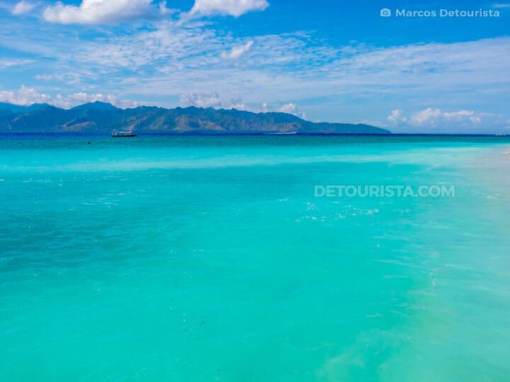 Gili Trawangan blue waters