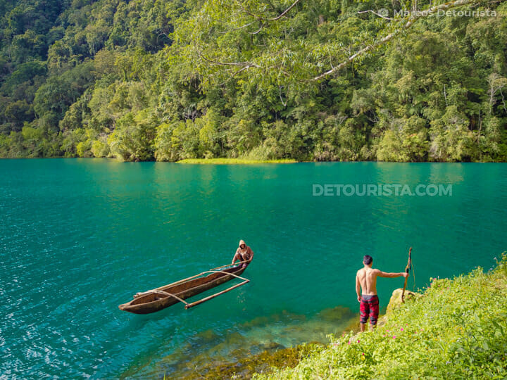 Traditional fishing, in Lake Holon, T'Boli, South Cotabato, Philippines
