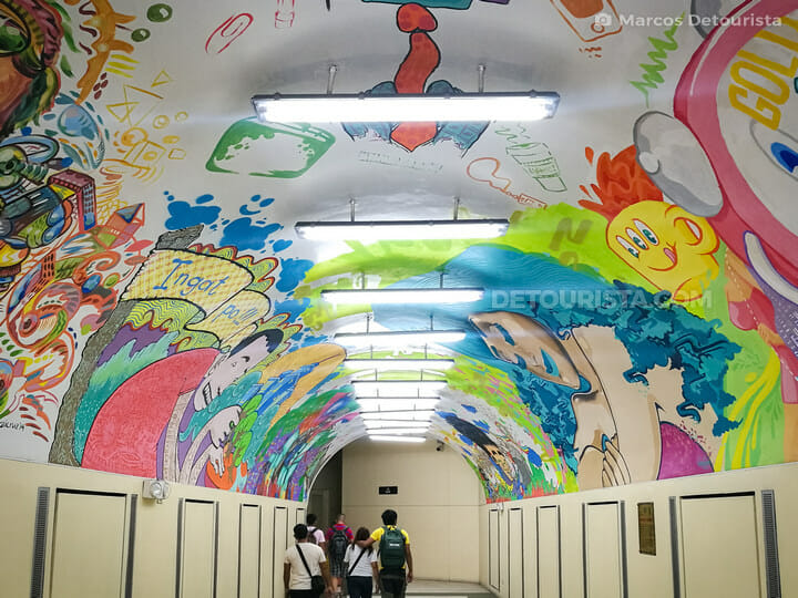 Makati underpass ceiling paintings