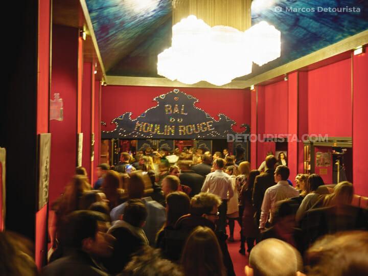 Moulin Rouge show reception, in Paris
