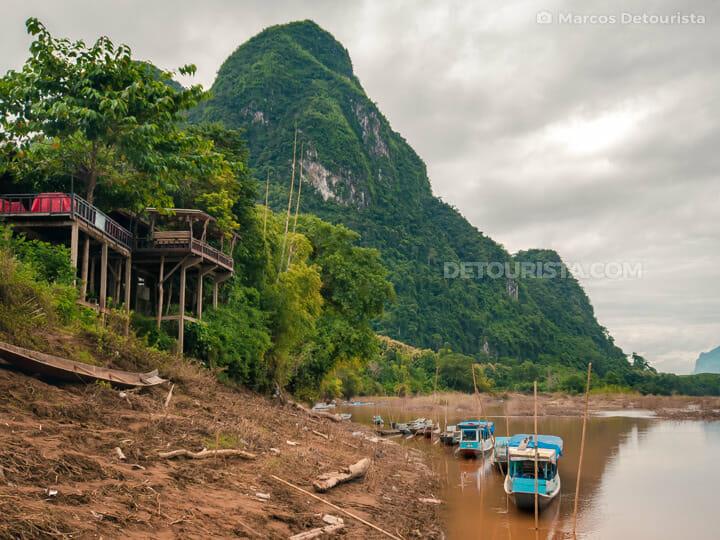 Muang Ngoi Neua river ferry landing, Laos