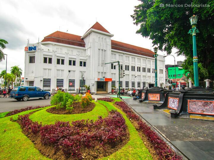 BNI building near Malioboro Street in Yogyakarta, Java, Indonesi